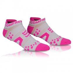 COMPRESSPORT Běžecké nízké ponožky V2 Compressport bílo růžové 6a23baabf8