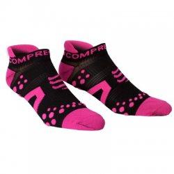COMPRESSPORT Běžecké nízké ponožky V2 Compressport černo růžové 2465c0935e