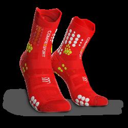 COMPRESSPORT Běžecké trailové ponožky V3.0 červené c6713dcbd8