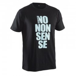 SALMING tričko No Nonsense Tee Black/Aqua SR
